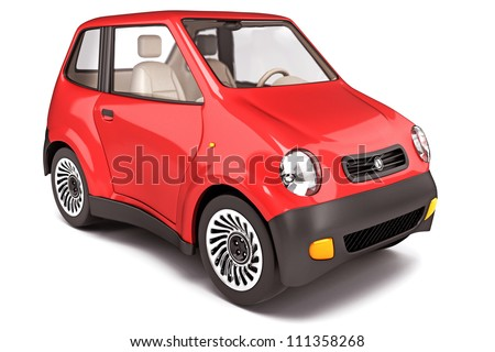 3d illustration of car against white background - stock photo