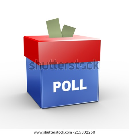3d illustration of collection box of poll - stock photo