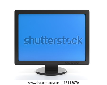 3d illustration of computer technologies. Monitor on a white background