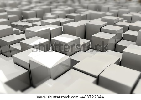 3d Illustration of cubes as background