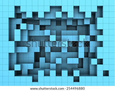 3d illustration of cubes background - stock photo