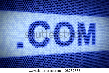 3d illustration of domain names and internet concept