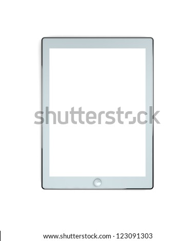 3D illustration of electronic Pad devices isolated on white