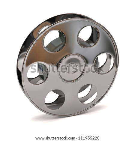 3d illustration of film reel