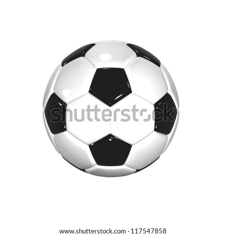 3D illustration of Football on white background - stock photo