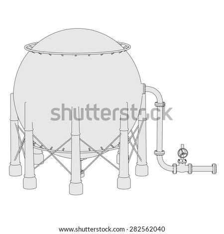 2d illustration of Gas Storage Unit