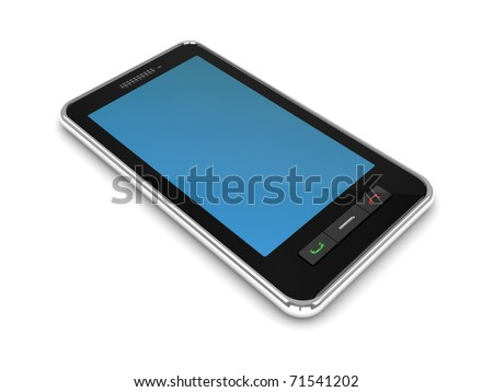 3d illustration of generic modern mobile phone