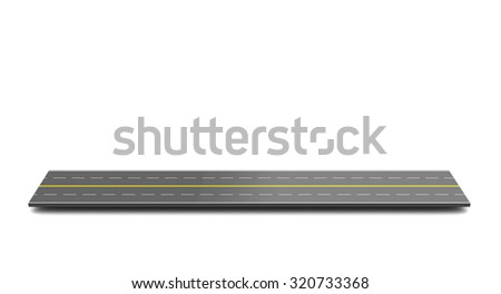 3d illustration of highway piece over white background - stock photo