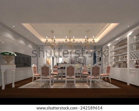 3D illustration of interior design  - stock photo