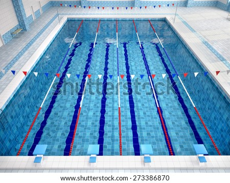 Public swimming pool stock photos images pictures for Swimming pool drawing