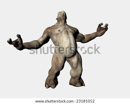 3d illustration of isolated evil demon monster creature