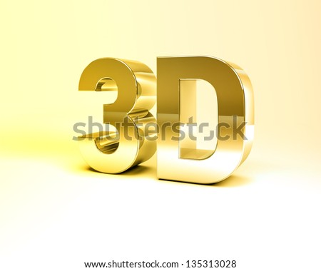 3D Illustration of Metal Text Render isolated on White Background