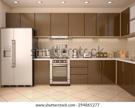 Modern Style Kitchen modern kitchen interior stock images, royalty-free images