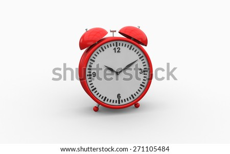 3d illustration of old fashioned alarm clock on white background - stock photo