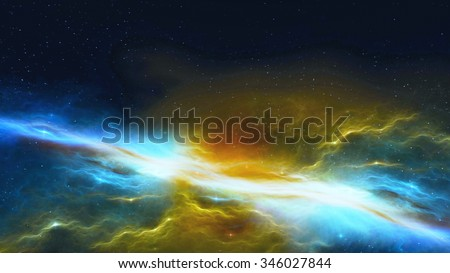 3D illustration of outer space - stock photo