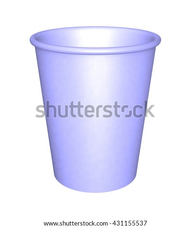 3d illustration of  paper cup isolated on white background
