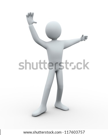 3d illustration of person dancing ballet. 3d rendering of human character.