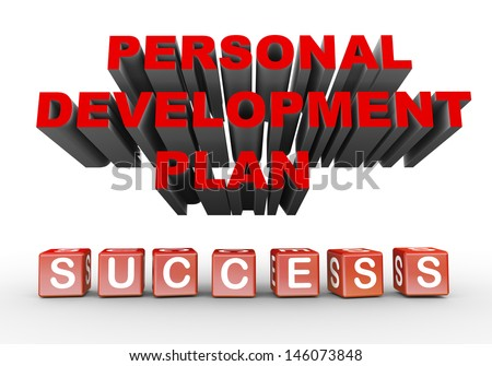 3d illustration of phrase personal development plan and success - stock photo