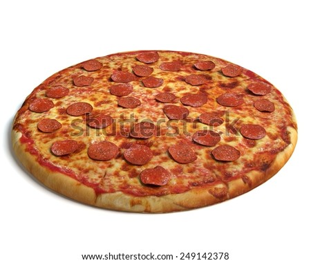 3d illustration of pizza