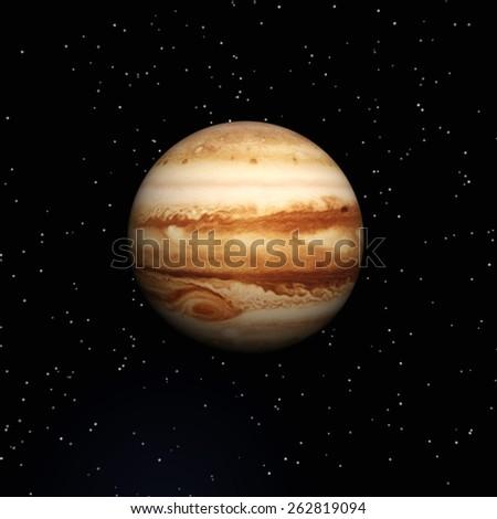 3D Illustration of Planet Jupiter - stock photo