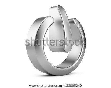 3d illustration of power sign isolated on a white background