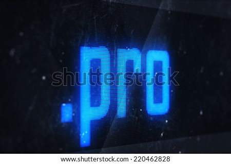 3d illustration of pro domain names and internet concept digital screen  - stock photo
