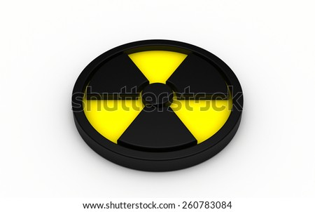 3d illustration of radiation sign isolated on white background
