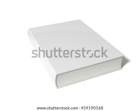 3d illustration of simple book. isolated on white.