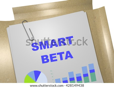 "3D illustration of ""SMART BETA"" title on business document. Business concept. - stock photo"