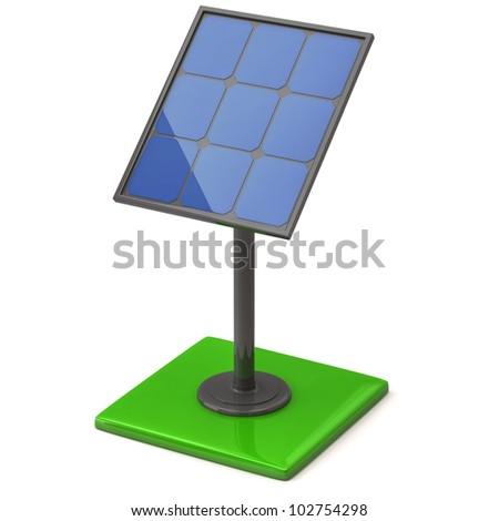 3d illustration of solar panel - stock photo