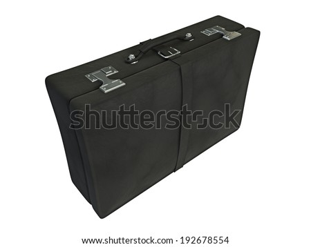 3d illustration of suitcase isolated of white background