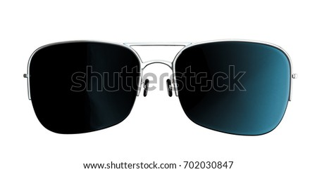 3d illustration of sunglasses isolated on white background