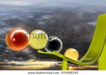 3d illustration of sweet gumballs - stock photo