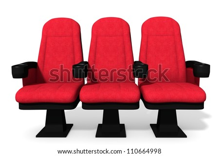 3d illustration of theater seats. - stock photo