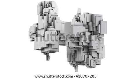 3D illustration of three-dimensional model