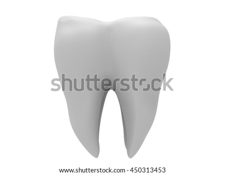 3d Illustration Tooth Icon Game Web Stock Illustration 450313453 ...