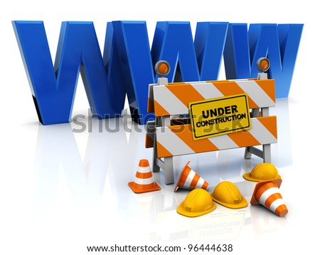 3d illustration of web design concept - stock photo