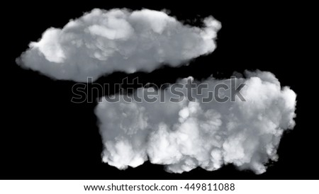 3D illustration of white cloud graphic