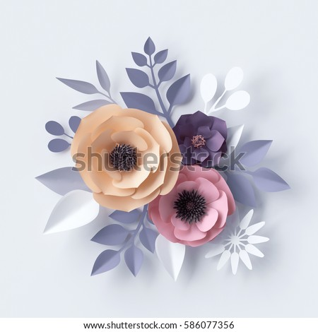 3 d illustration pastel paper flowers holiday stock illustration 3d illustration pastel paper flowers holiday floral background easter backdrop mothers day mightylinksfo