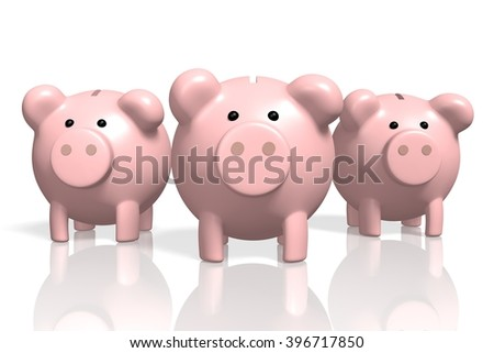 3D illustration - piggy-bank concept - great for topics like savings, banking, finance etc.