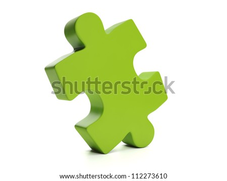 3d Illustration: Puzzle, part of the whole - stock photo