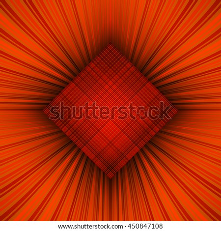 3d illustration. Radiant psychedelic background. The three-dimensional space. The prospect of converging to the center of the multi-colored stripes. - stock photo