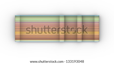 3d illustration rainbow color cylinder curl shape backdrop - stock photo