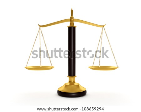 3d illustration: Scales to determine the weight of things - stock photo