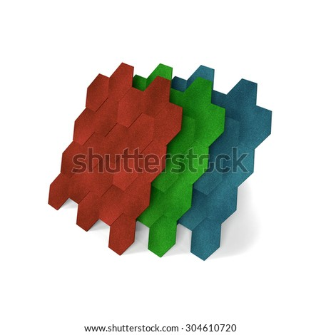 3d illustration. Shingles on a white background - stock photo