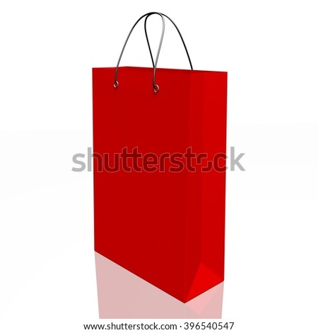 3D illustration - shopping bag.