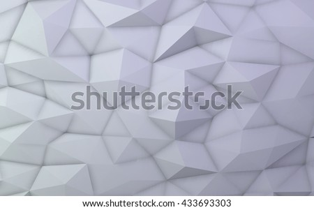 3D illustration - White low poly texture