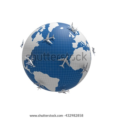 3d image concept of worldwide connection