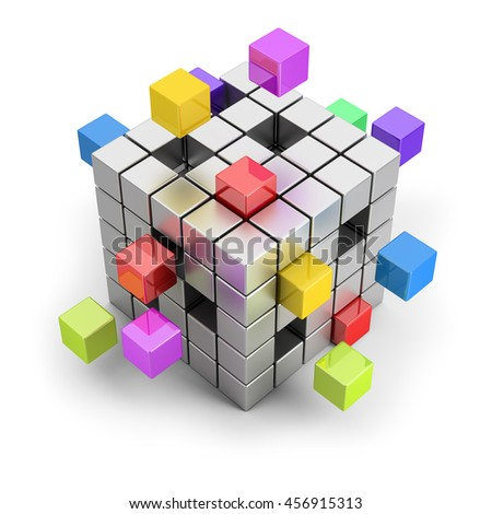 3d image. Creating a team of business concept. Isolated white background.