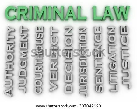 3d image Criminal law word cloud concept - stock photo